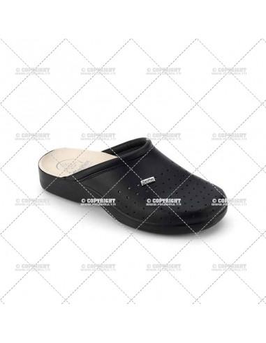 Chaussons / paire de pantoufles médicale en cuir pour homme ART. 2961-10 SANIFLEX